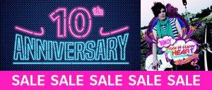 10th anniversary sale